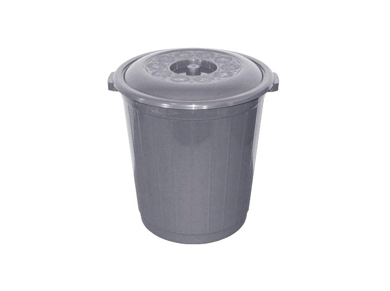 Бак 50л. для мусора с крышкой Милих