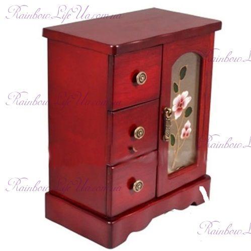 """Шкафчик для украшений с креплением для цепочек JF-B3017C """"King Wood"""""""