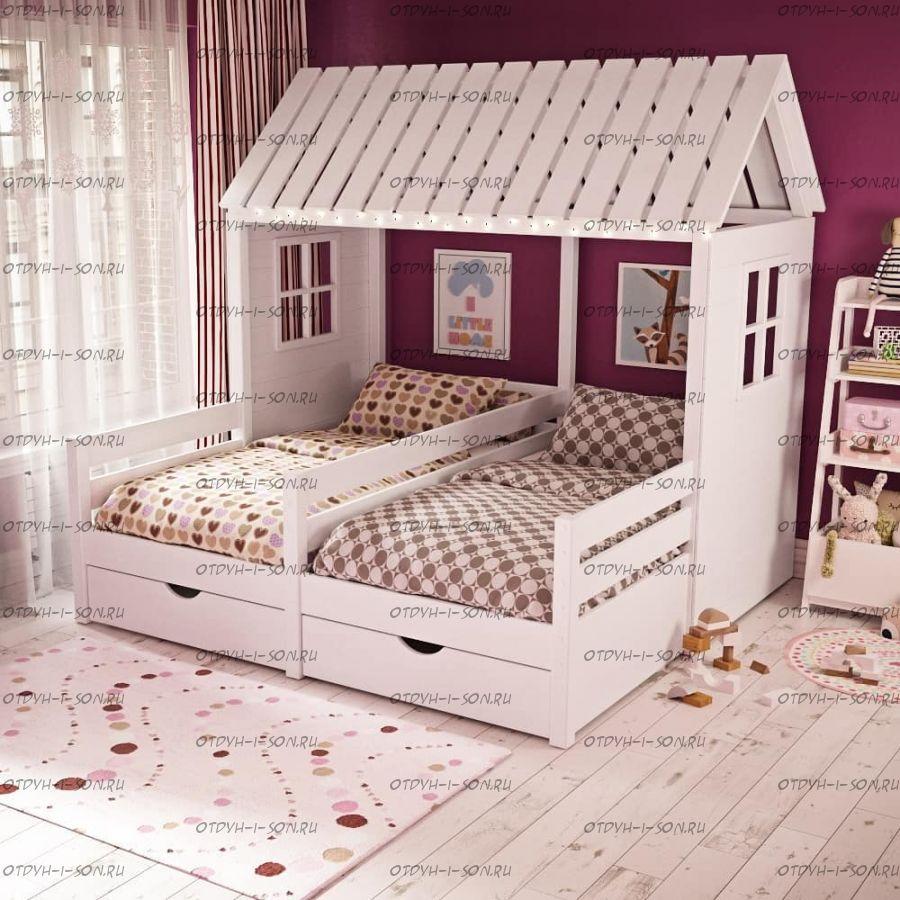 Кровать Домик Butterfly №11 (для двоих детей)