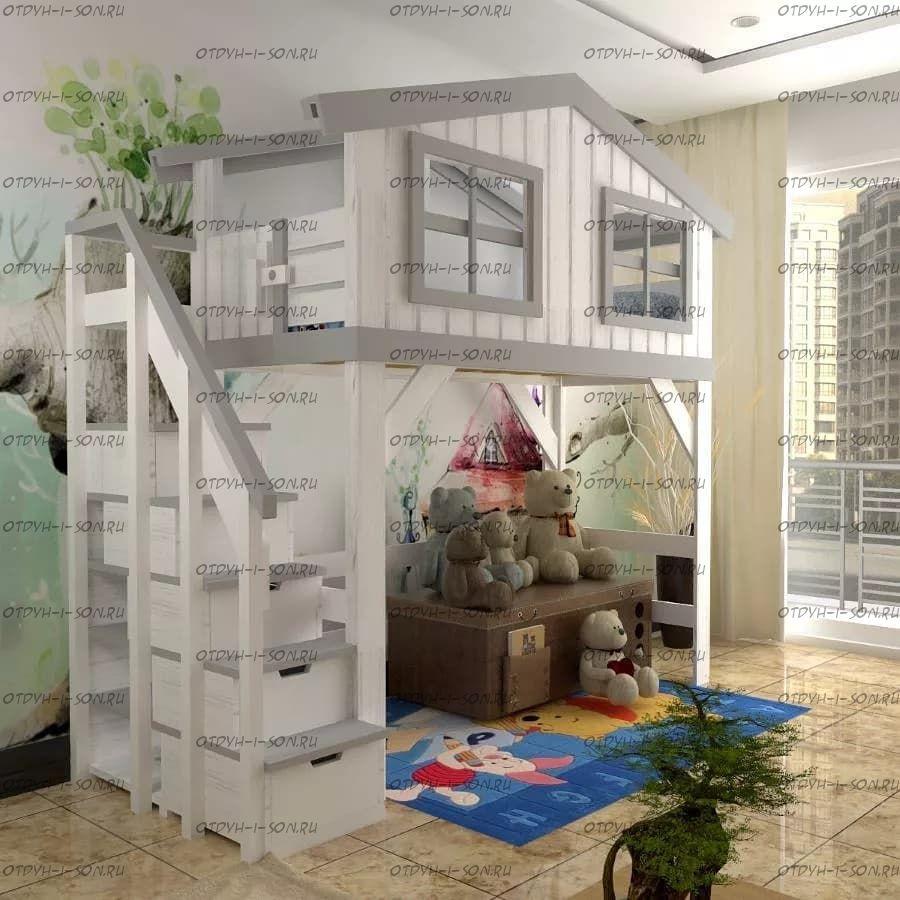 Кровать-чердак Домик Factory №3