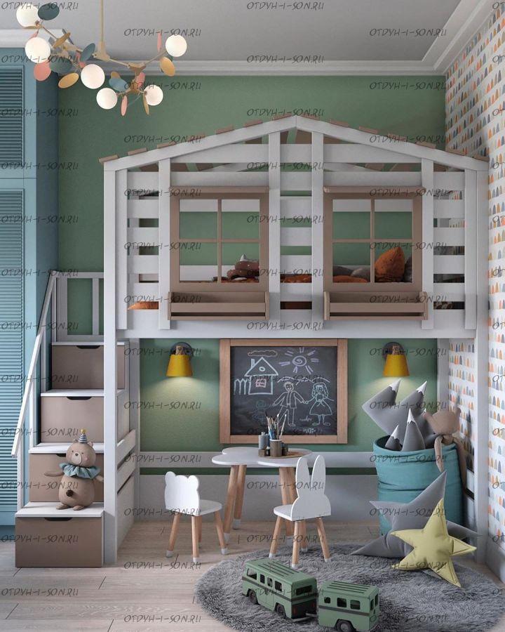 Кровать-чердак Домик Roof №40С