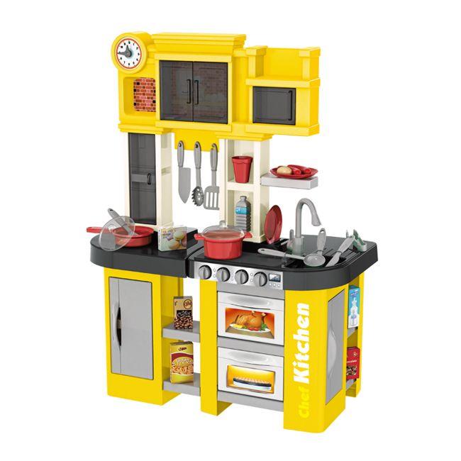 922-104 Детская кухня игровая с буфетом, со светом,с водичкой Talented Chef Kitchen желтая