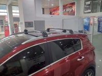 Багажник на крышу Kia Sportage 4, Turtle Air 2, аэродинамические дуги на интегрированные рейлинги (черный цвет)