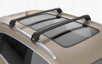 Багажник на крышу Kia Soul, Turtle Air 2, аэродинамические дуги на интегрированные рейлинги (черный цвет)