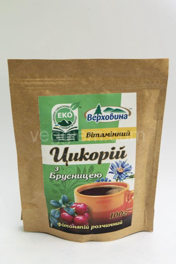 Цикорий с Брусникой,100 грамм