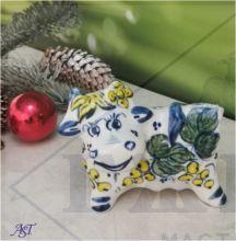 Корова Гжель Василиса 7,5х9х4см. Желтая смородина.
