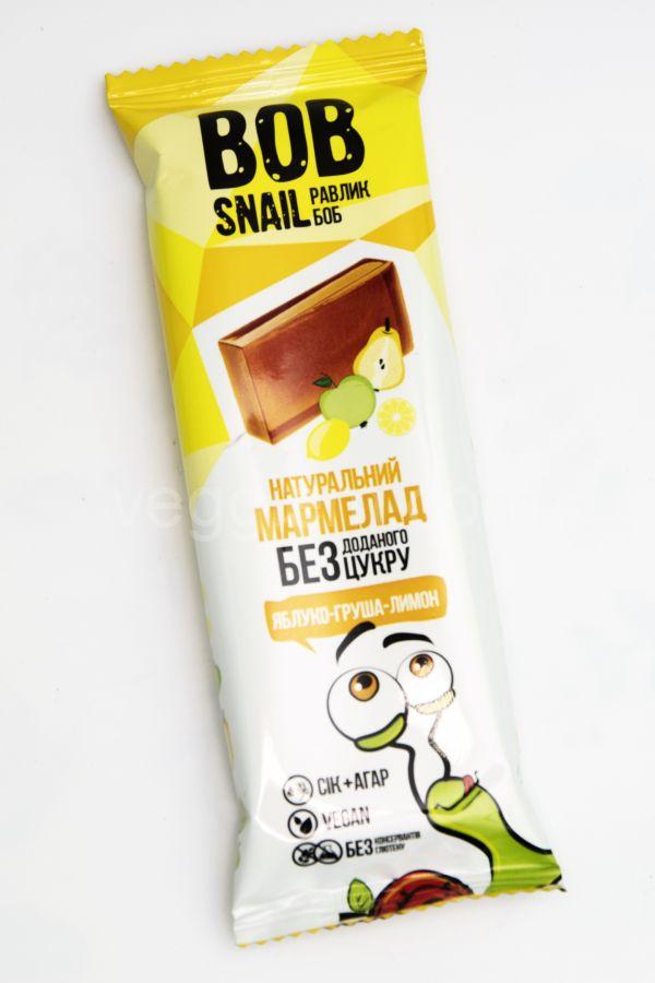 Мармелад яблоко-груша-лимон без сахара , 38 гр Bob Snail