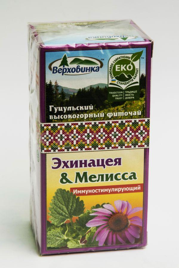 """Травяной чай Эхинацея и Мелисса """"Верховина"""",30 грамм"""