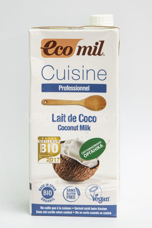 Органические кокосовые сливки EcoMil,1 литр и 200 мл