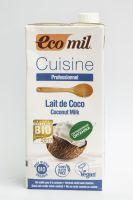 Органические кокосовые сливки Ecomil,1000 и 200 мл