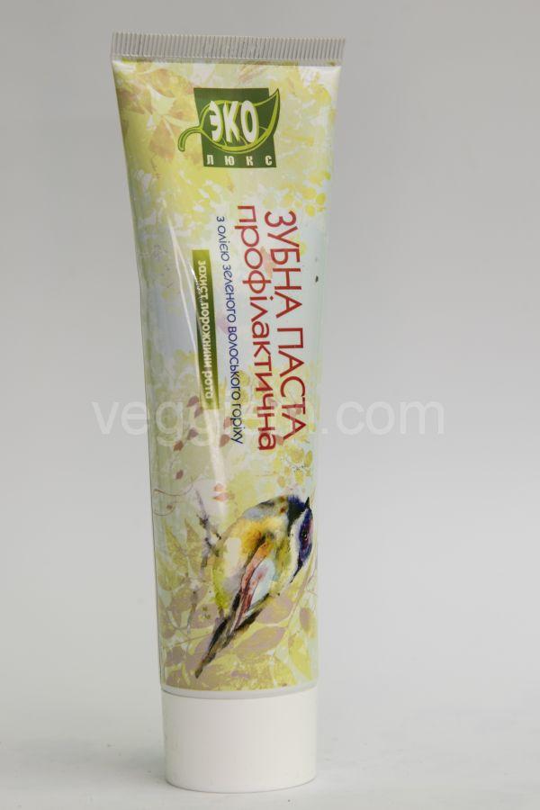 Зубная паста Эколюкс с маслом зеленого волошского ореха,100 мл