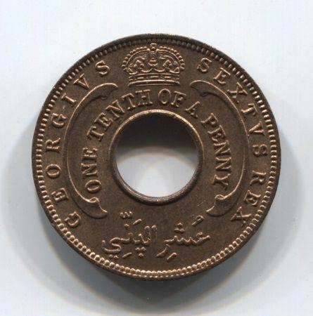 1/10 пенни 1952 года Западная Африка AUNC
