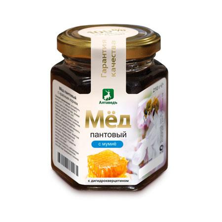 Пантовый мёд с мумиё