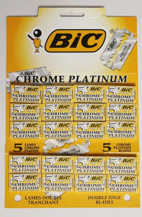 BIC Chrome Platinum, 20х5 двусторонних лезвий