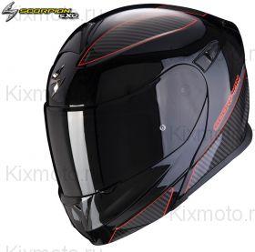 Шлем Scorpion EXO 920 Flux, Черно-красный