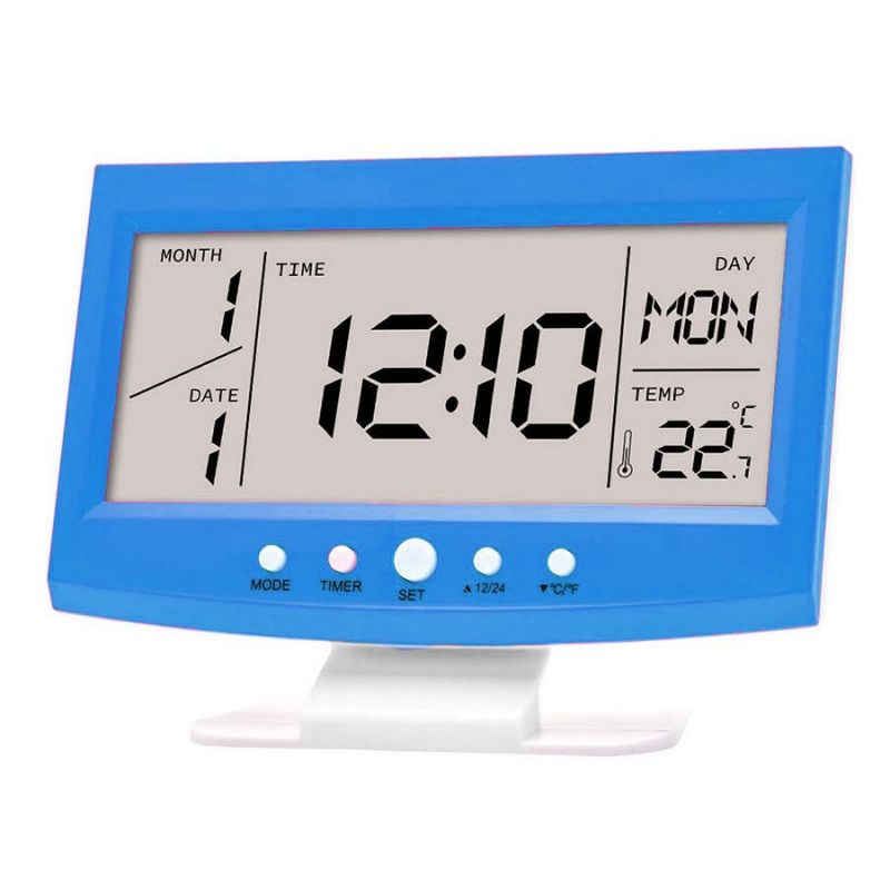Многофункциональные настольные часы KD-1819 (цвет синий)