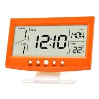 Многофункциональные настольные часы KD-1819 (цвет оранжевый)
