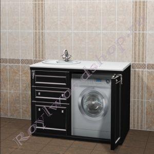 """Тумба под стиральную машину """"Руссильон PROVENCE-120 черный"""""""