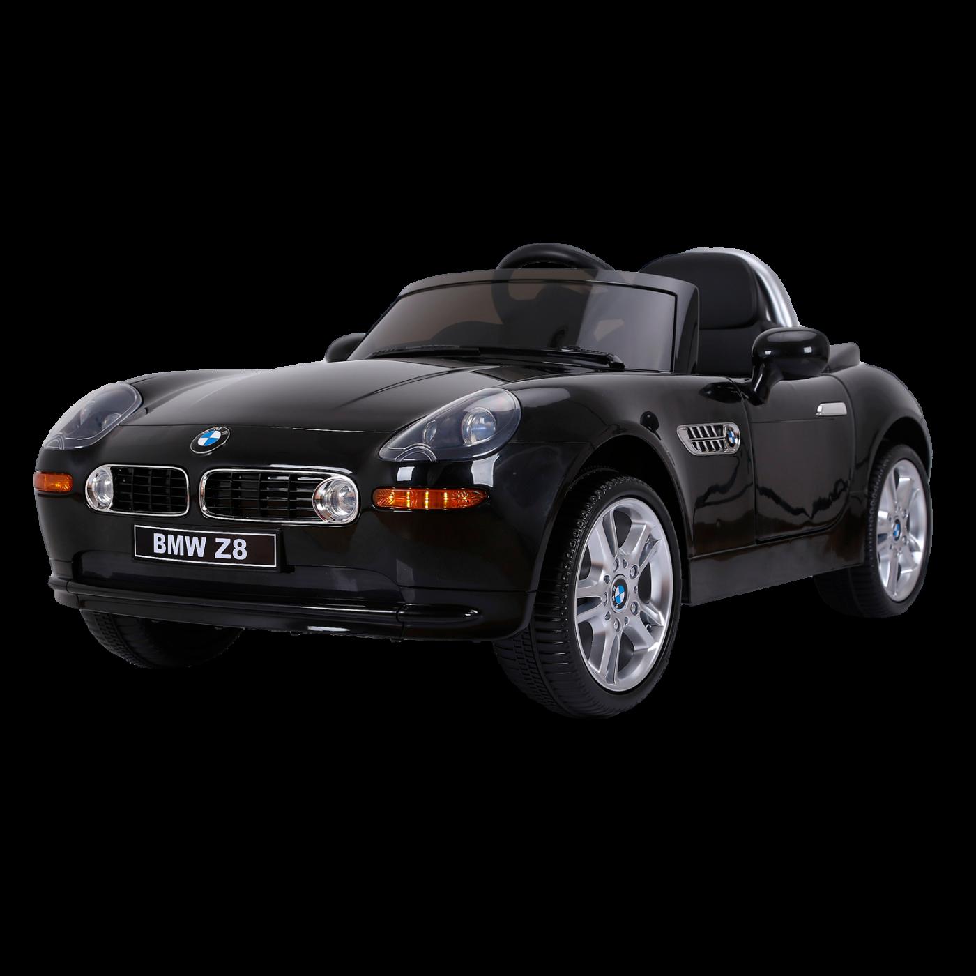 Электромобиль JЕ1288 BMW Z8 (лицензия, 12V, металлик, EVA, экокожа) чёрный