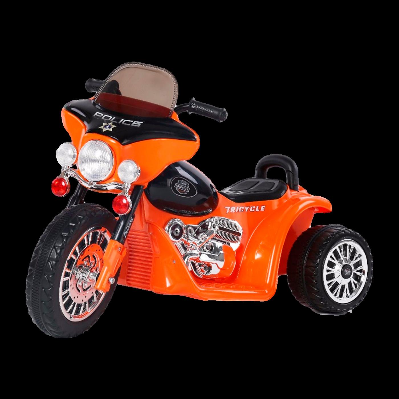 Электромобиль JT568 (трицикл, 6V) оранжевый