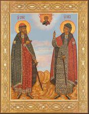 Икона Борис и Глеб благоверные князья-страстотерпцы
