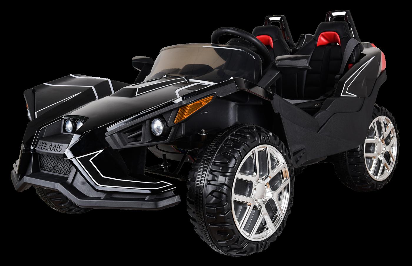 Детский электромобиль (2020) JC888 (12V, EVA, экокожа) Чёрный