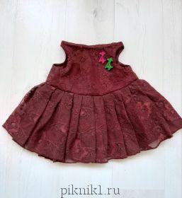 Кружевное платье для зайки Ми 34см