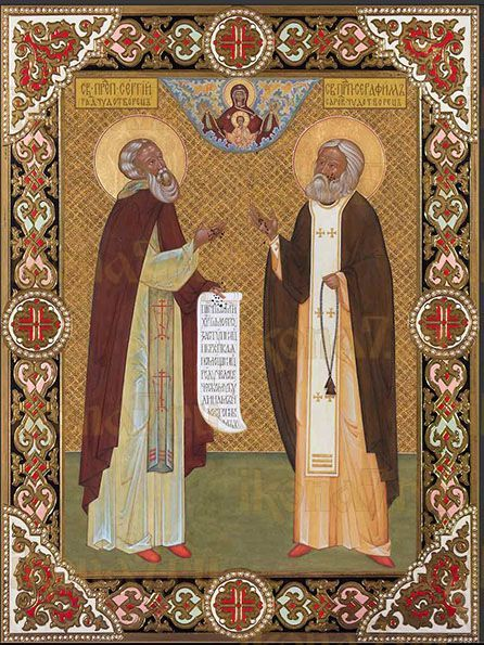Икона Святые преподобные Сергий Радонежский и Серафим Саровский