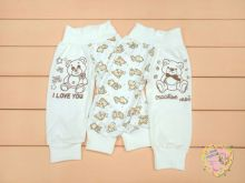 Штаны для новорожденных A-ST810-ITk (белый мишка) Мамин Малыш OPTMM.RU