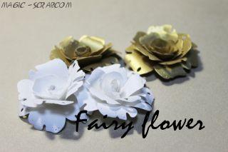 """Цветы из бумаги """"Белое золото"""""""