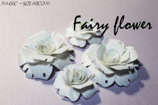 """Розы из бумаги """" Белые розы"""""""