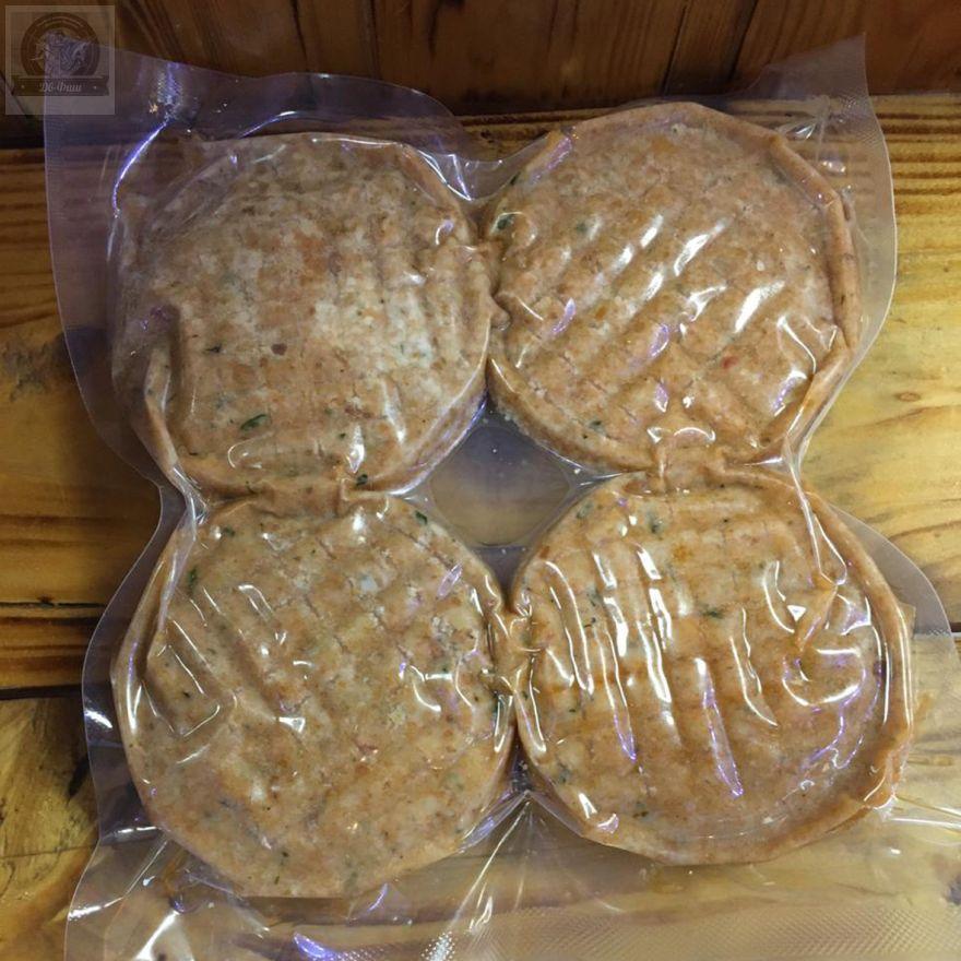 Котлеты из Кижуча натуральные.Упаковка 500 гр -4 штуки