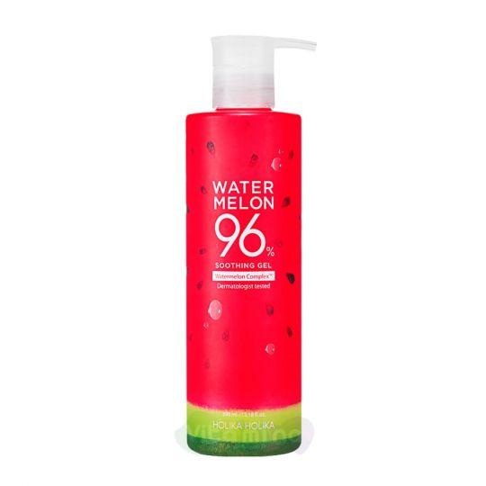Holika Holika Универсальный увлажняющий гель для лица и тела с экстрактом арбуза Water Melon 96% Soothing Gel, 390 мл
