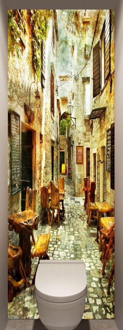 Фотообои в туалет - старые улочки Греции 1