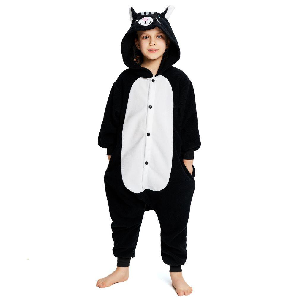 Детская Пижама Кигуруми Кот Черный