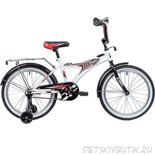 """Велосипед детский NOVATRACK TURBO 20"""" (2019), белый"""