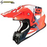 Шлем Scorpion VX-16 Air Mach, Красно-серебряный