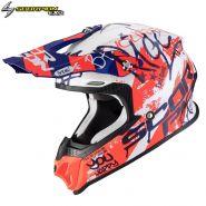 Шлем Scorpion VX-16 Air Oratio, Бело-сине-красный