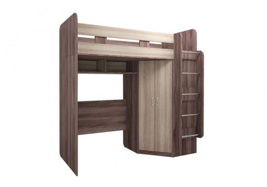 Кровать-чердак с угловым шкафом М15 Доминик