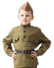 Костюм военный детский для мальчика Солдат, 8-10 лет