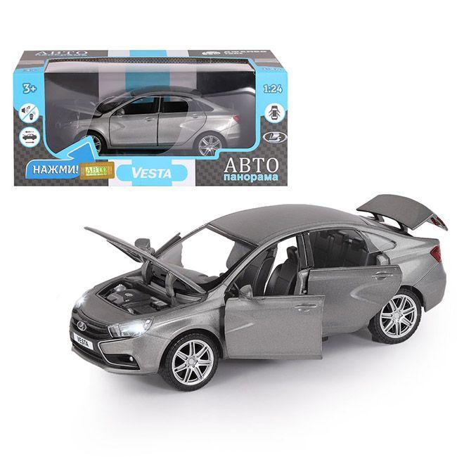 Модель LADA VESTA седан,цвет серый 1:24 Автопанорама
