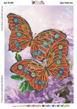 В-465 Фея Вышивки. Две Бабочки. А3 (набор 1000 рублей)