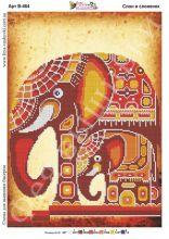 В-464 Фея Вышивки. Слон и Слонёнок. А3 (набор 1225 рублей)