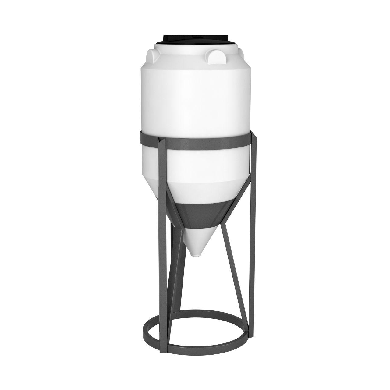Емкость конусная ФМ 120 литров в обрешетке пластиковая