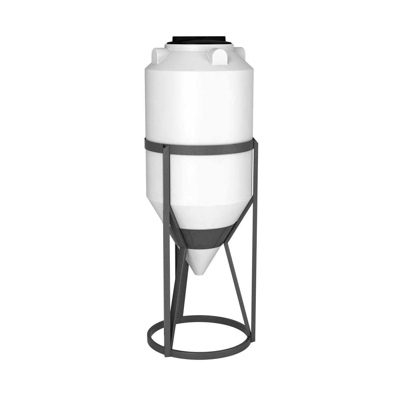 Емкость конусная 240 литров ФМ в обрешетке пластиковая