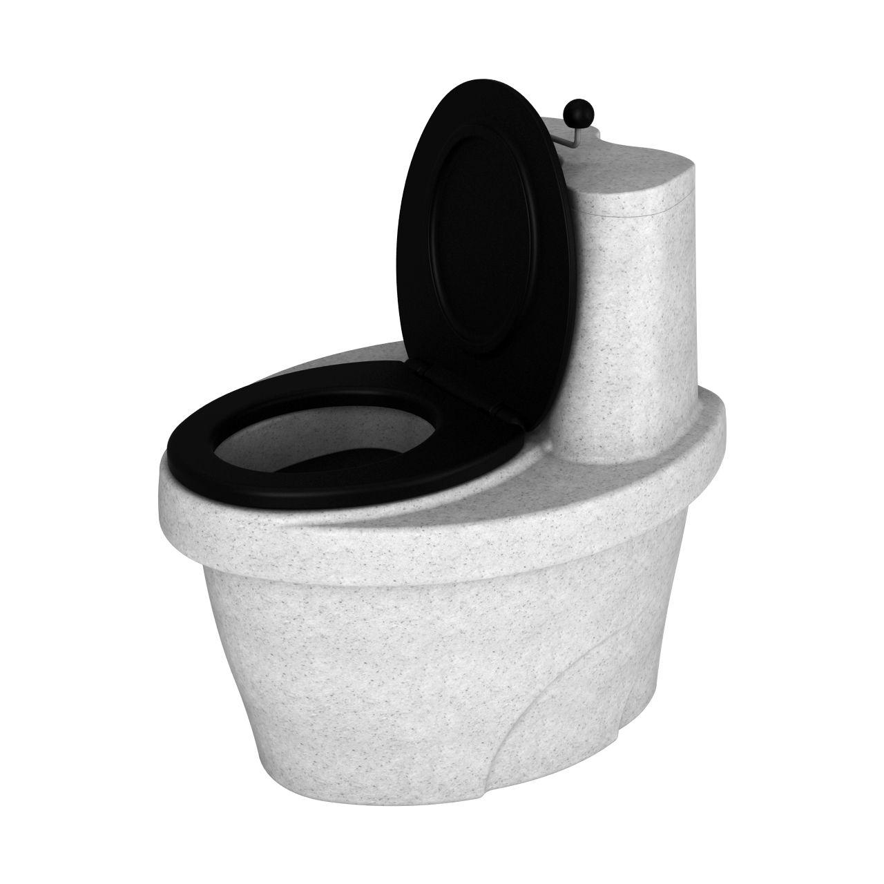 Туалет торфяной белый гранит
