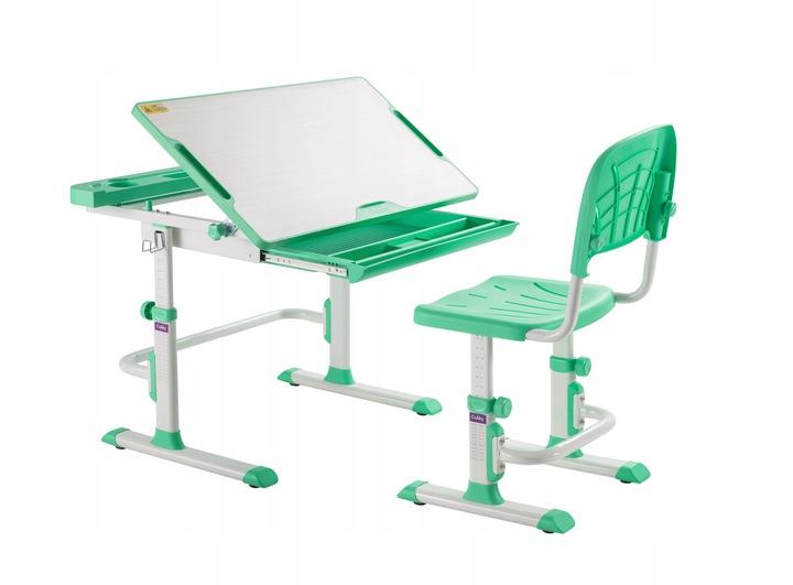 Растущая парта + стульчик FunDesk Disa Green