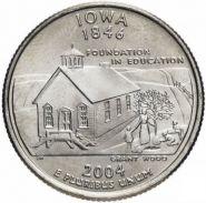 25 центов США 2004г - Айова, VF- Серия Штаты и территории