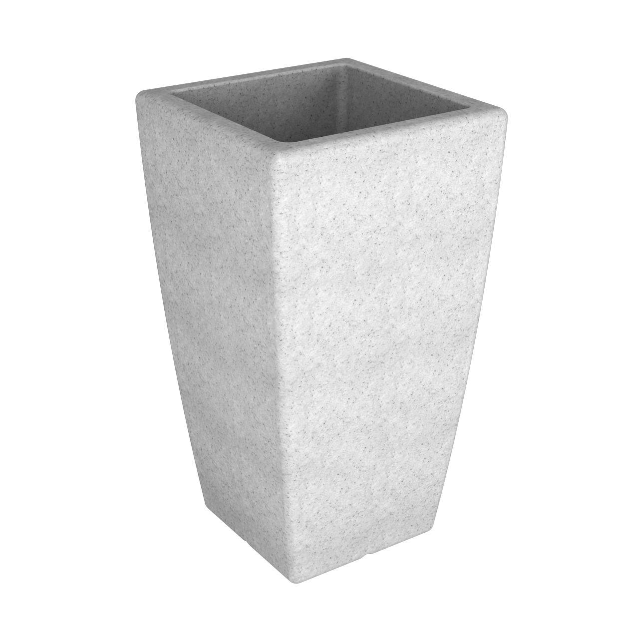 Кашпо FLOX P 900 белый гранит