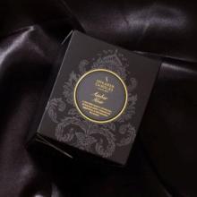 """Большая шотландская ароматическая свеча """"Абмра Нуар"""" в оригинальном стеклянном бокале.AMBER NOIR WHISKY GOBLET"""
